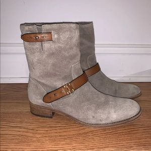 Coach Amy Leather Suede Ankle Boot Size 6.5